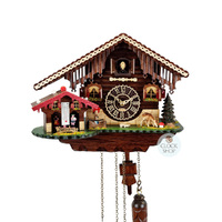 CHALET BATTERY WITH WEATHER HOUSE CUCKOO CLOCK 25CM BY TRENKLE