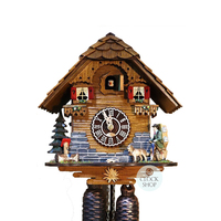 CHALET WITH DOG AND WATER TROUGH 8 DAY 27CM CUCKOO CLOCK BY TRENKLE