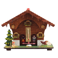 Chalet Cow With Greem Shutters Weather House By TRENKLE