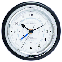 BLACK MARITIME WOOD TIDE CLOCK/CLOCK 17CM BY FISCHER