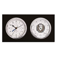 Black Maritime Barometer / Tide & Time Clock 20 Cm By FISCHER
