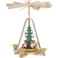 ANGELS AROUND CHRISTMAS TREE 29CM PYRAMID