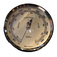 GOLD BAROMETER INSERT WITH GOLD DIAL 63MM BY FISCHER