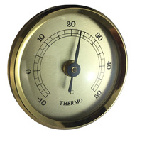 GOLD THERMOMETER INSERT WITH GOLD DIAL 42MM BY FISCHER