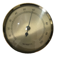 Gold Hygrometer Insert With Gold Dial 63mm By FISCHER