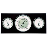 BLACK CLASSIC BAROMETER/ THERMOMETER/HYGROMETER 28.5CM BY FISCHER