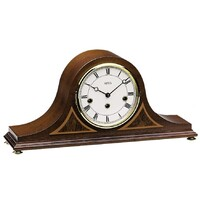 Walnut Table Clock Westminster Chime with Inlay