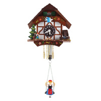Chalet Blue Bird Tudor House Swinging Girl - Trenkle - 106 S