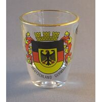 Glass Shot Glass With German Crest