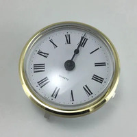 Round Roman Gold 66mm - Quartz Clock Movement