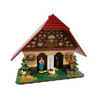 Chalet Deer with Red Roof - Trenkle - 847