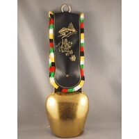 GOLD COW BELL # 12 FRINGED BLACK STRAP
