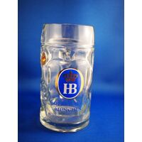 HOFBRÄUHAUS MUNICH GLASS BEER MUG BY KING