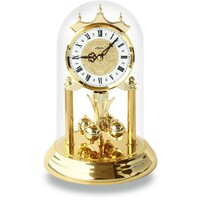 WHITE PAISLEY INLAY DIAL WESTMINSTER CHIME ANNIVERSARY CLOCK ROMAN NUMERALS 23CM
