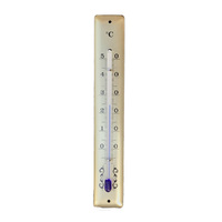 GOLD THERMOMETER SQUARE TOP 130MM BY FISCHER