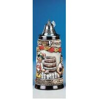 OKTOBERFEST BEER STEIN WITH PEWTER LID BY KING