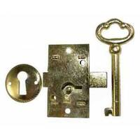 Brass Plated Lock & Key Set