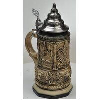 Deutschland Medieval Octagonal Beer Stein By KING
