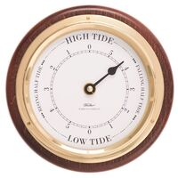 MAHOGANY MARITIME WOOD TIDE CLOCK 17CM BY FISCHER