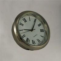 Round Roman Silver 35mm - Quartz Clock Movement