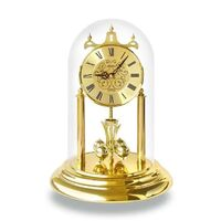 GOLD ENGRAVED DIAL WESTMINSTER CHIMING ANNIVERSARY CLOCK ROMAN NUMERALS 30CM