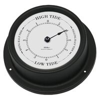 Black Maritime Tide Clock 12.5cm By Fisher