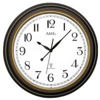 BROWN ROUND PLASTIC WALL CLOCK 45CM BY AMS