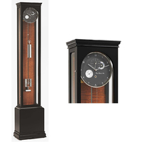 Hand Polished Black Precision Floor Clock By HERMLE