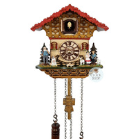 Chalet Battery Heidi House With Dog And Goats 20cm Cuckoo Clock By TRENKLE