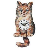 MOVING EYE CAT CLOCK BATTERY 15CM BY ENGSTLER