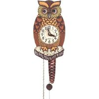 MOVING EYE OWL MECHANICAL CLOCK 20CM BY ENGSTLER