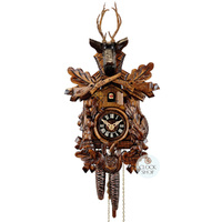 CARVED 1 DAY AFTER THE HUNT 33CM CUCKOO CLOCK BY ENGSTLER