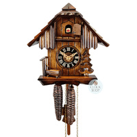 CHALET 1 DAY TREE & WATER TROUGH 20CM CUCKOO CLOCK BY ENGSTLER