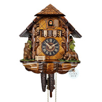 Chalet 1 Day Bears 25cm Cuckoo Clock By ENGSTLER