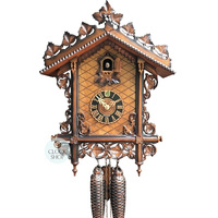 ORNATE RAILWAY 8 DAY 42CM CUCKOO CLOCK BY HONES