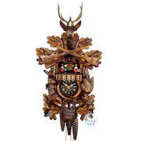 CARVED 1 DAY AFTER THE HUNT 42CM CUCKOO CLOCK BY ENGSTLER