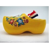 Magnet - Shoes Wooden Yellow