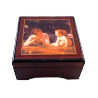 WOODEN MUSICAL JEWELLERY BOX WITH TEMPTATION (BOURG) TUNE KINDERSYMPHONIE