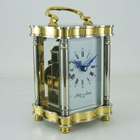 Carriage Clock  - Gold Elegant French Two Tone