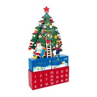Christmas Tree Advent Calendar With Hanging Decorations