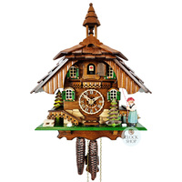 CHALET 1 DAY BLACK FOREST LADY 31CM CUCKOO CLOCK BY ENGSTLER