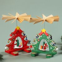 TREE WITH DECORATIONS PYRAMID 19CM