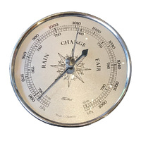 Silver Barometer Insert With Silver Dial 100mm By FISCHER