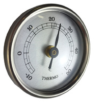 SILVER THERMOMETER INSERT WITH SILVER DIAL 42MM BY FISCHER