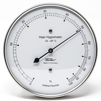 Silver Hair Hygrometer 103mm By FISCHER