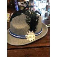 TRILBY PARTY HAT WITH BLUE CORD