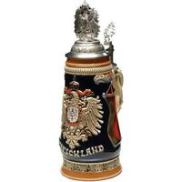 DEUTSCHLAND MONARCHY PEWTER EAGLE ON PEWTER LID .5LT