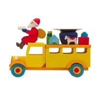 Candle Holder - Santa Claus in Truck - Graupner - 4789