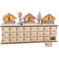 CHRISTMAS MARKET ADVENT CALENDAR WITH LED
