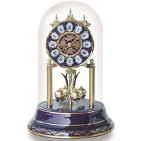 Royal Blue Porcelain Anniversary Clock Roman Numerals 23cm BY HALLER